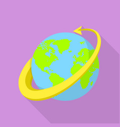 All around the globe icon flat style vector