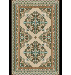 Antique light colored carpet vector