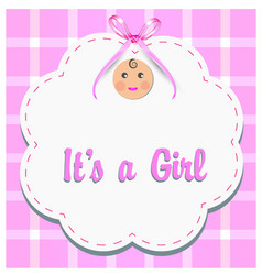 baby girl gender reveal vector image