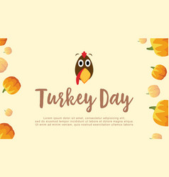Background turkey day with pumpkin vector