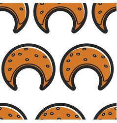 Bakery product seamless pattern pastry moon or vector