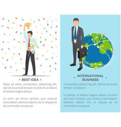 best idea international on vector image