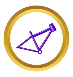 Bicycle frame icon vector image