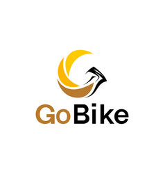 Bike eagle logo design modern minimalist design vector