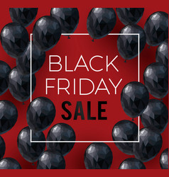 Black friday sale banner low poly vector