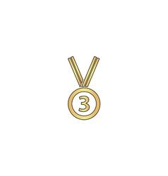 bronze medal computer symbol vector image