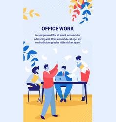 Business board meeting in office brainstorming vector