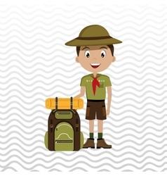 Camping equipment design vector