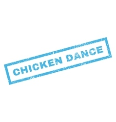 Chicken Dance Rubber Stamp vector image