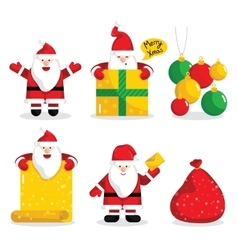 Christmas Santa Claus characters collection vector