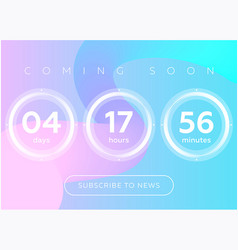 Countdown timer digital clock vector