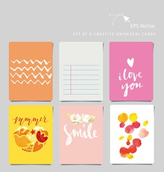 Creative universal card vector image