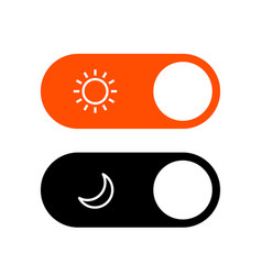 day night mode switch ui button light dark mode vector image