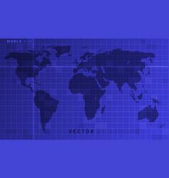 digital world map vector image