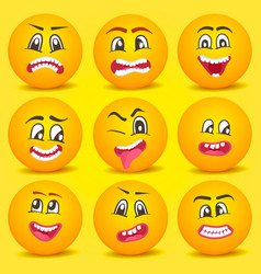 emoticon smiley cartoon set vector image