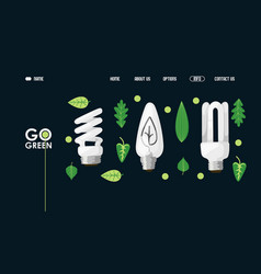 energy saving light bulb website design vector image