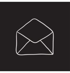 Envelope sketch icon vector
