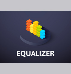 Equalizer isometric icon isolated on color vector