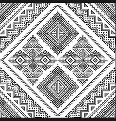 Ethnic seamless monochrome pattern vector