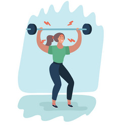 exhausted by sports woman vector image