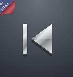 fast backward icon symbol 3D style Trendy modern vector image