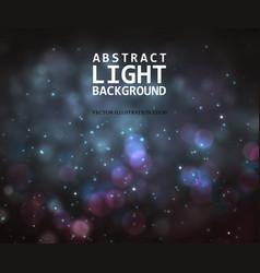 Festive light background with bokeh vector