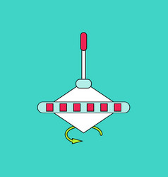 Flat icon design collection whirligig movement vector