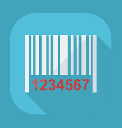 Flat modern design with shadow icons barcode vector
