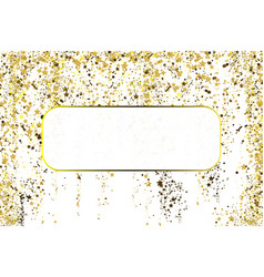 gold glitter confetti texture with plase for text vector image