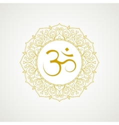 Golden om symbol in vector image