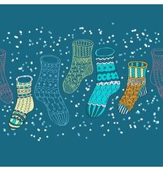 hand drawn socks vector image