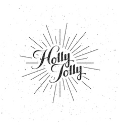 Holly Jolly Merry Christmas vector image