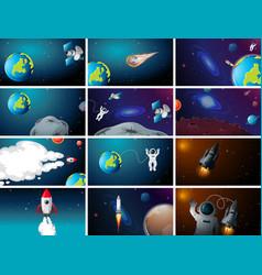 huge space scene set vector image