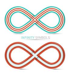 Infinity Symbols Set vector image