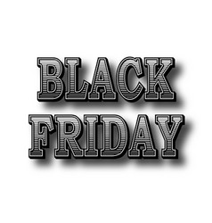 inscription black friday retro letters with a vector image