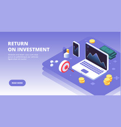 Investment banner investing capital benefits and vector