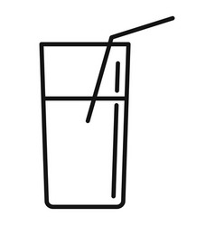 juice glass icon outline style vector image