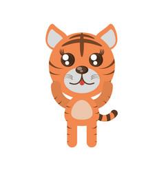 Kawaii tiger animal toy vector