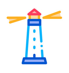 lighthouse beacon icon outline vector image