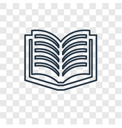 Literature concept linear icon isolated on vector