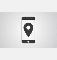 location phone icon sign symbol vector image