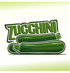 Logo for zucchini vector