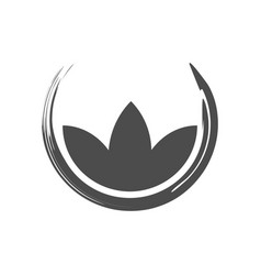 Lotus zen symbol abstract brush vector
