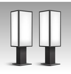 Luminous Stands Pillars for Indoor Advertising vector