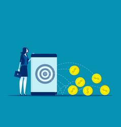 Making online money concept business online vector