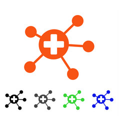 Medical links flat icon vector