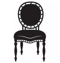 Modern Neoclassic chair vector