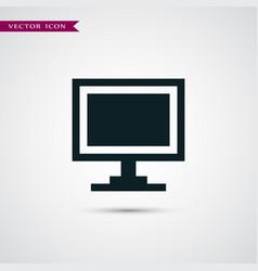monitor icon simple vector image