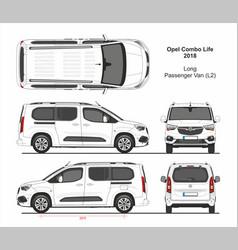 Opel combo life passenger van l2 2018-present vector