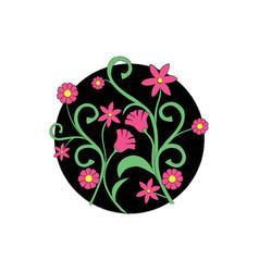 Pink flowers design vector